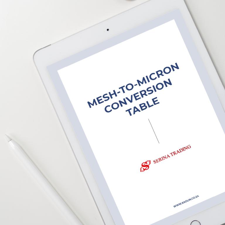 mesh vs microns conversion chart